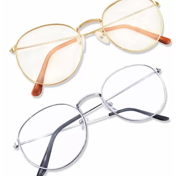 Giá bán Mắt kính ngố giả cận  thời trang trẻ trung Hàn Quốc( trắng)