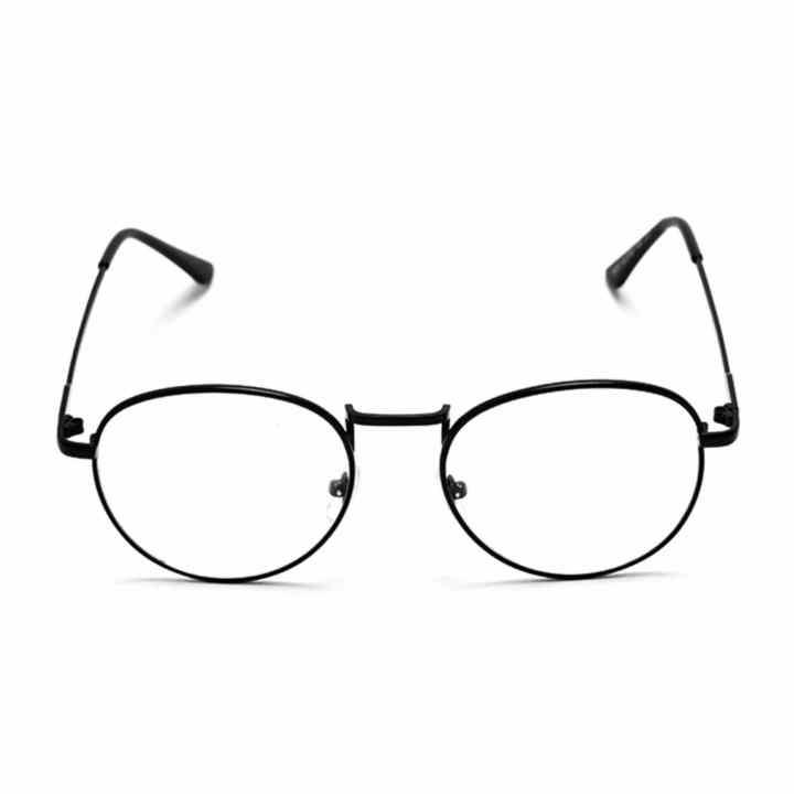 Mắt kính ngố gọng cận không độ Nobita thời trang (đen)