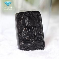 Mua Mặt Day Chuyền Phật A Di Đa Đa Obisidian Đen Bản Vuong Phong Thủy Cao Cấp Thương Hiệu Viễn Chi Bảo Viễn Chí Bảo