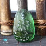 Mã Khuyến Mại Mặt Day Chuyền Phật Bản Như Lai Đại Nhật Đa Obsidian Xanh Phong Thủy Cao Cấp Thương Hiệu Viễn Chi Bảo Viễn Chí Bảo