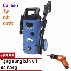 Máy rửa xe cao áp tự hút nước Kachi ABW-VAI-70P (Xanh) + Tặng súng bắt vít