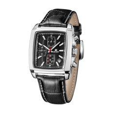 Cửa Hàng Bán Megir Fashion Casual Military Chronograph Quartz Watch Men Luxury Waterproof Analog Leather Wrist Watch Black Intl