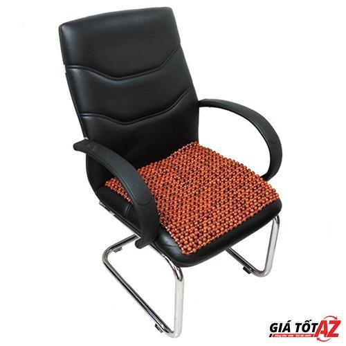 Miếng lót ghế văn phòng, ô tô bằng hạt gỗ hương cao cấp (Nâu đỏ)