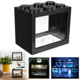 Ôn Tập Mini Led Lighting Clear Fish Tank Ornament Aquarium Office Desktop Decor Black Intl