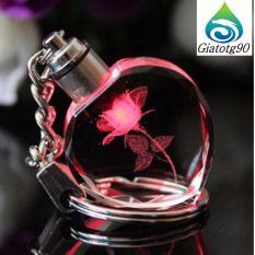 Móc khóa quà tặng valentine tình yêu tinh thể mika 206426