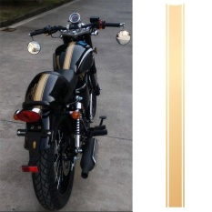 Motorcycle DIY Tank Fairing Cowl Vinyl Stripe Pinstripe Decal Sticker For Cafe Racer (Gold) - intl