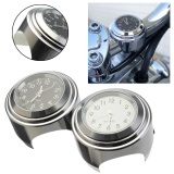 Bán Motorcycle Motorbike Handlebar Mount Round Dial Night Lights Clock W Wrench Intl Rẻ