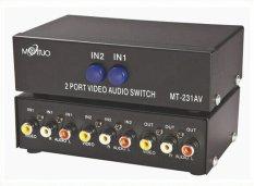 MT-VIKI 2 Cổng 2 trong 1-out Av Rca Splitter Selector Switch Mt-231av-quốc tế