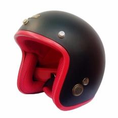 Mũ Bảo Hiểm 3 4 Napoli Sh Cao Cấp Tem Chuẩn Cr Đen Nham Lot Đỏ Rẻ