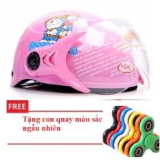 Giá bán Mũ bảo hiểm cao cấp dành cho trẻ em  tặng con quay màu ngẫu nhiên
