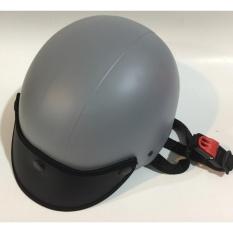 Mũ bảo hiểm mũi da cao cấp (xám)