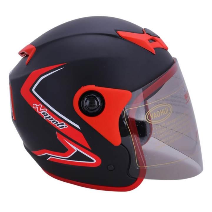 Mũ Bảo Hiểm Napoli N039 tem bọ cạp đỏ (...