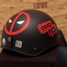 Mua Mũ Bảo Hiểm Nữa Đầu Deadpool Đen Kinh Phi Cong Gia 80000 Rẻ Trong Hồ Chí Minh