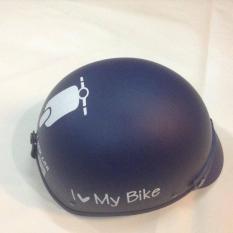 Giá Bán Mũ Bảo Hiểm Nữa Đầu I Love My Bike Nham Xanh Đậm Mới Nhất