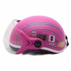 Giá bán Mũ bảo hiểm SPO trẻ em có kính cao cấp (Hồng)