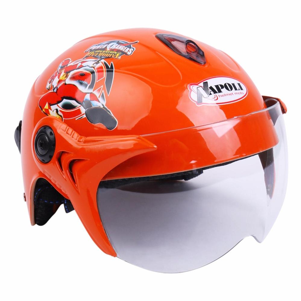Khuyến mãi Mũ bảo hiểm trẻ em Napoli N02 5 anh em siêu nhân ( màu cam) -  Bảo hành 12 tháng chỉ hôm nay - Giá chỉ 145.573đ