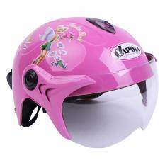 Giá bán Mũ Bảo hiểm trẻ em Napoli N02 Hồng kính trong- Bảo Hành 12 tháng