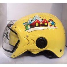 Giá bán Mũ bảo hiểm trẻ em tem bạch tuyết (Vàng)