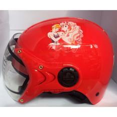 Giá bán Mũ bảo hiểm trẻ em tem công chúa (Đỏ)