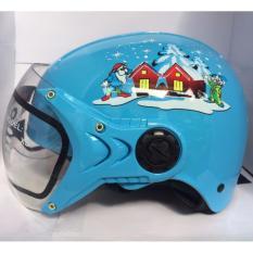 Giá bán Mũ bảo hiểm trẻ em (Xanh công chúa)