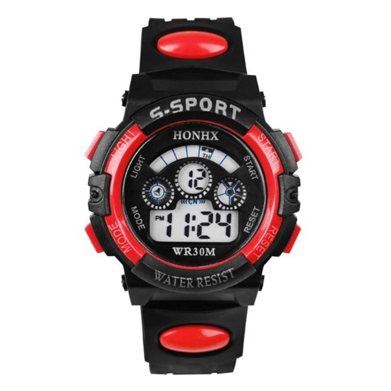 Nơi bán Anything4you Multifunction Waterproof Boy Sports Electronic Children Watches (Red) - intl