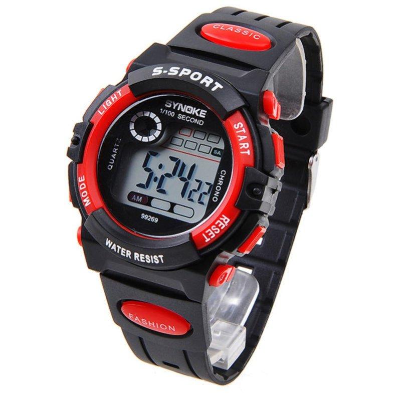 Nơi bán Đồng hồ đeo tây điện tử (Màu xanh đỏ) thể thao dành cho thanh thiếu niên and trẻ em loại chuồn nước nhiều chức năng.