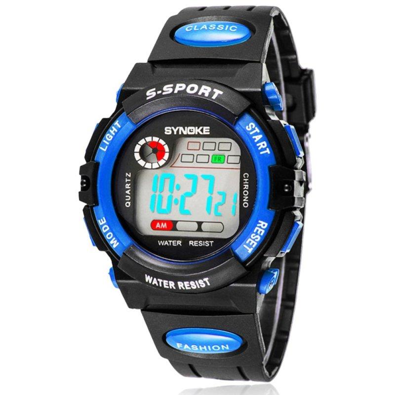 Nơi bán Đồng hồ đeo tây điện tử (Màu xanh nước biển) thể thao dành cho trẻ em loại chuồn nước nhiều chức năng.