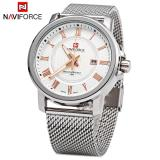 Giá Bán Naviforce 9052 Male Quartz Watch 30M Water Resistance Stainless Steel Strap Intl Tốt Nhất