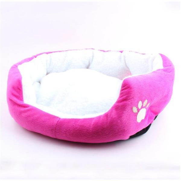 nệm giường nằm cho chó mèo bông màu hồng 50x40x15cm m3