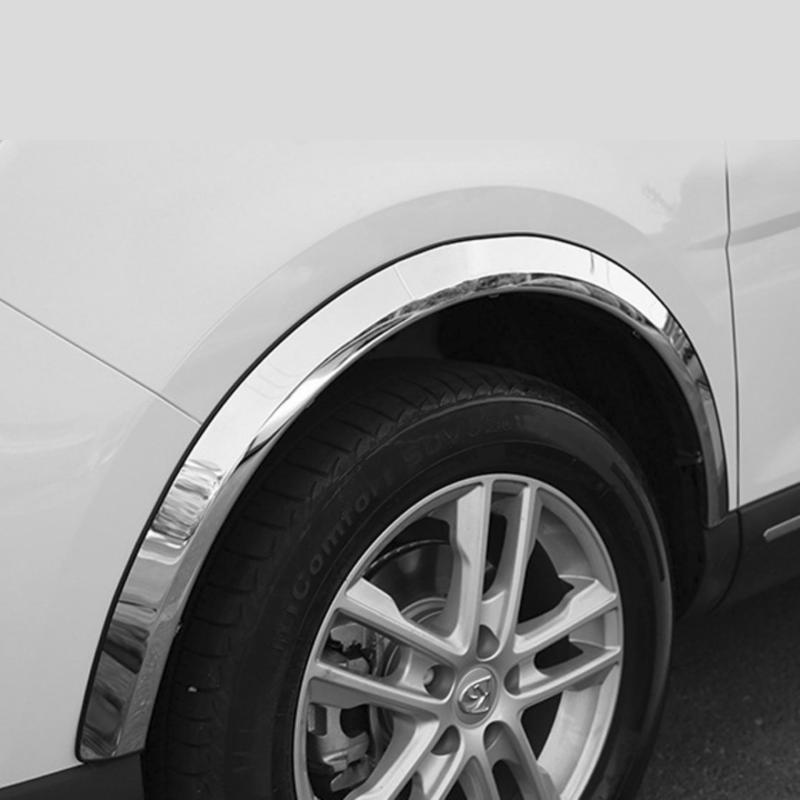 Nẹp mạ crom trang trí ô tô quanh chắn bùn (Cuộn 5 mét)