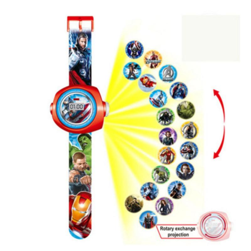 New Arrive 2018 Kids Children Boy Girl LED Digital Watch, Cartoon 3D Projection Toy Watch - 20 Pictures, Multi Pattern Kids Funny Watches Toy (Avengers 31) - intl bán chạy