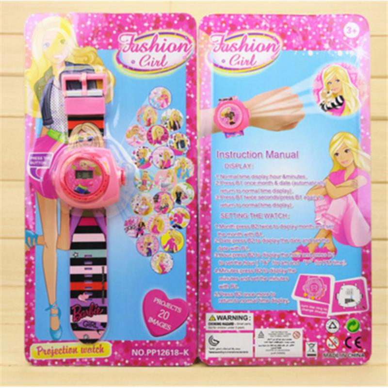 New Arrive 2018 Kids Children Boy Girl LED Digital Watch, Cartoon 3D Projection Toy Watch - 20 Pictures, Multi Pattern Kids Funny Watches Toy (barbie 1) - intl bán chạy