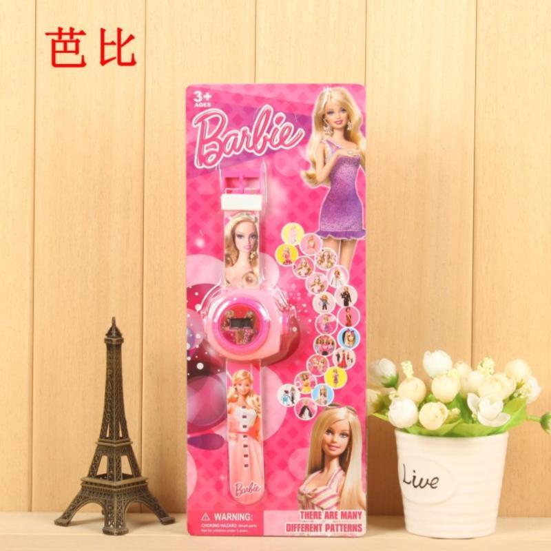 Mới Đến 2018 Trẻ Em Bé Trai Bé Gái LED Kỹ Thuật Số Đồng Hồ Hoạt Hình 3D Chiếu Đồ Chơi Đồng Hồ-20 Hình, nhiều Hoa Văn Trẻ Em Ngộ Nghĩnh Đồng Hồ Đồ Chơi (Barbie 21)-quốc tế bán chạy