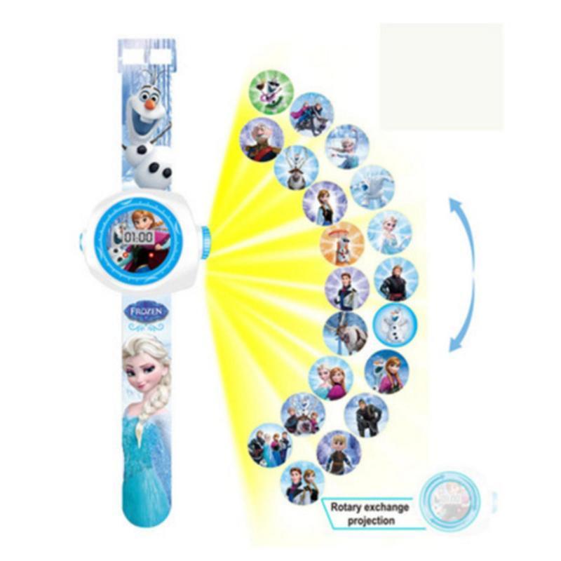 Mới Đến 2018 Trẻ Em Bé Trai Bé Gái LED Kỹ Thuật Số Đồng Hồ Hoạt Hình 3D Chiếu Đồ Chơi Đồng Hồ-20 Hình, nhiều Hoa Văn Trẻ Em Ngộ Nghĩnh Đồng Hồ Đồ Chơi (Đông Lạnh 31)-quốc tế bán chạy