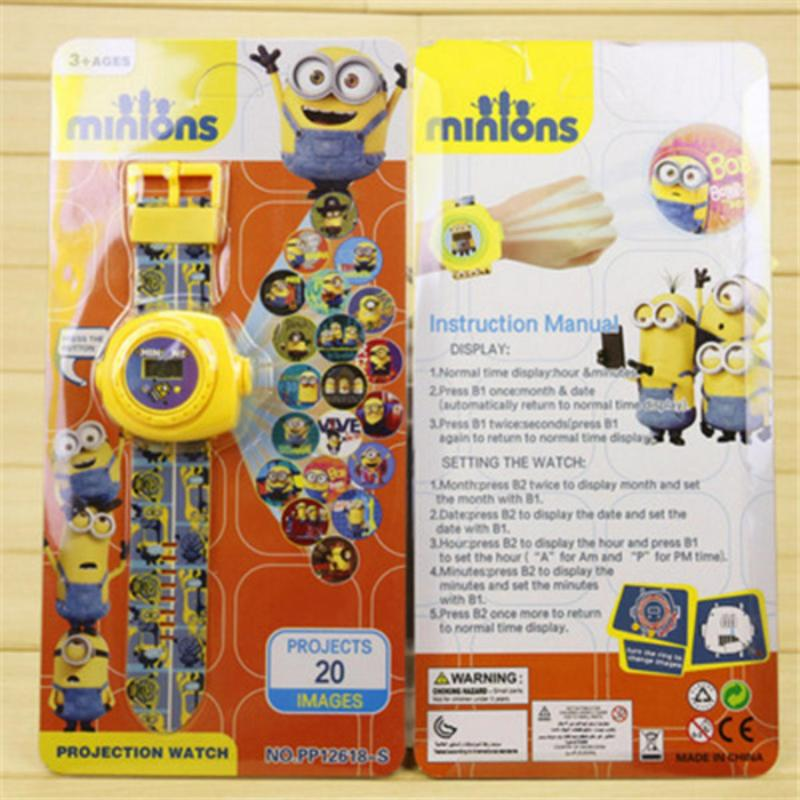 New Arrive 2018 Kids Children Boy Girl LED Digital Watch, Cartoon 3D Projection Toy Watch - 20 Pictures, Multi Pattern Kids Funny Watches Toy (minions 1) - intl bán chạy