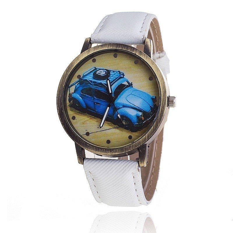 Nơi bán New Fashion Jeans Watch Women Car Quartz Ladies Casual Wristwatch (White) - intl