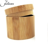 Mã Khuyến Mại New Round Wooden Watch Case 100 Pure Bamboo Retro Watch Box Can Be Free Laser Logo Intl