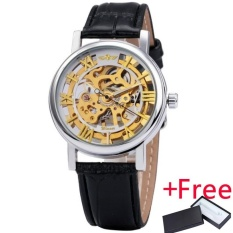 Offer Khuyến Mại NEW Winner Men Watch Jam Tangan Mechanical Hand-wind Fashion Casual Leather ...