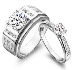 Nhẫn cặp đá kim cương nhân tạo - NCAP101