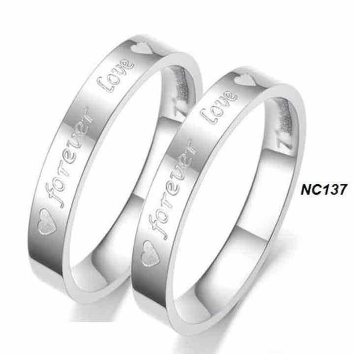 Nhẫn cặp inox cao cấp forever love NC137