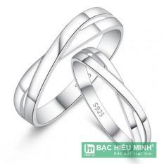 Nhẫn đôi bạc 925 BẠC HIỂU MINH nc463 trọn đời bên nhau