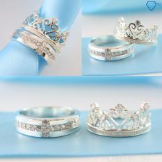 Giá Bán Nhẫn Đoi Nhẫn Cặp Bạc Queen King Ring Nd0206 Trang Sức Tnj Tnj