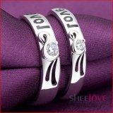 Giá Bán Nhẫn Đoi Bạc Tinh Yeu Love Đa Zircon Free Size Spr Q005 Sheelove Mới