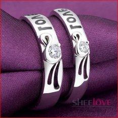 Nhẫn Đoi Bạc Tinh Yeu Love Đa Zircon Free Size Spr Q005 Hồ Chí Minh