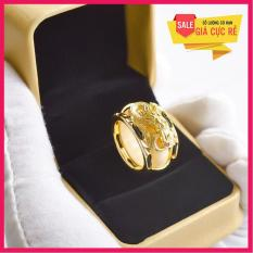Nhẫn long voi bọc bạc Thái Mạ vàng 24k