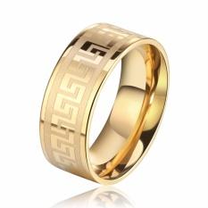 Nhẫn nam hoàng gia thép không gỉ (vàng) 316L STT-Ri02