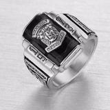 Nhẫn Nam Inox Trắng Mặt Sư Tử Đa Đen Mẫu N501 Hà Nội Chiết Khấu 50