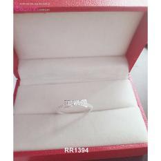 Nhẫn nữ trang sức bạc Ý S925 Bạc Xinh - Nơ đẹp RR1394