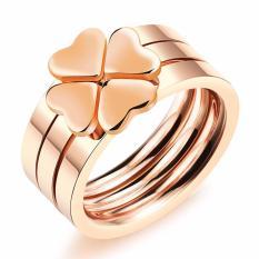 Nhẫn Titan cỏ 4 lá N286 (màu đồng)