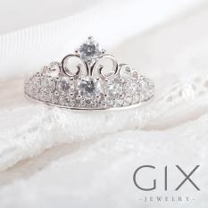 Mua Nhẫn Bạc Nữ Trang Sức Đẹp Vương Miện Tam Giac Gix Jewelry Spr 0029 Trắng Gix Jewelry Nguyên